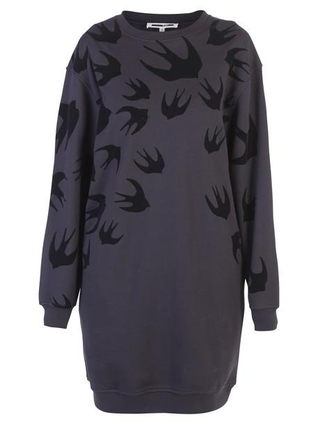 McQ Alexander McQueen Black Printed Dress