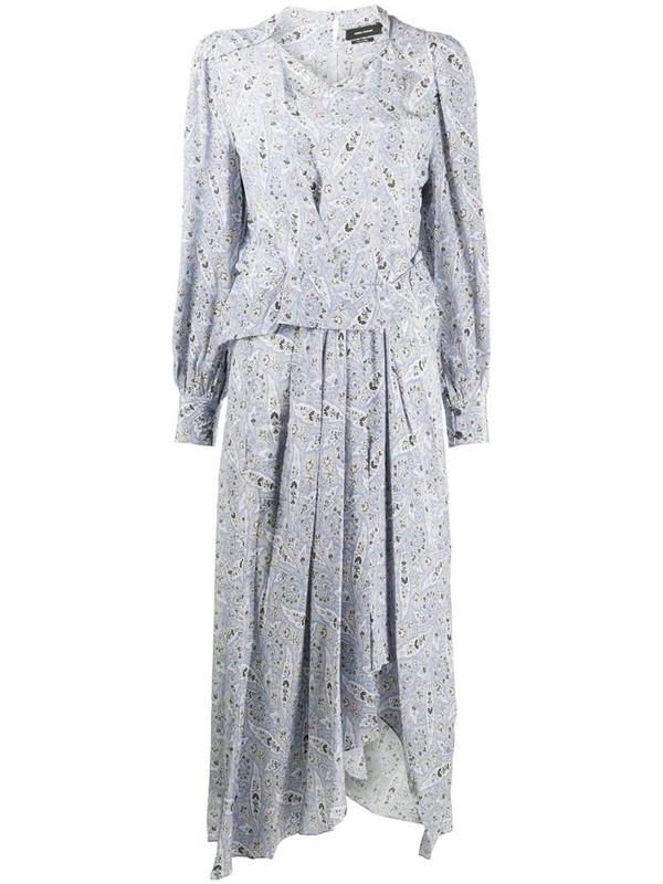 Isabel Marant paisley print silk midi dress in blue
