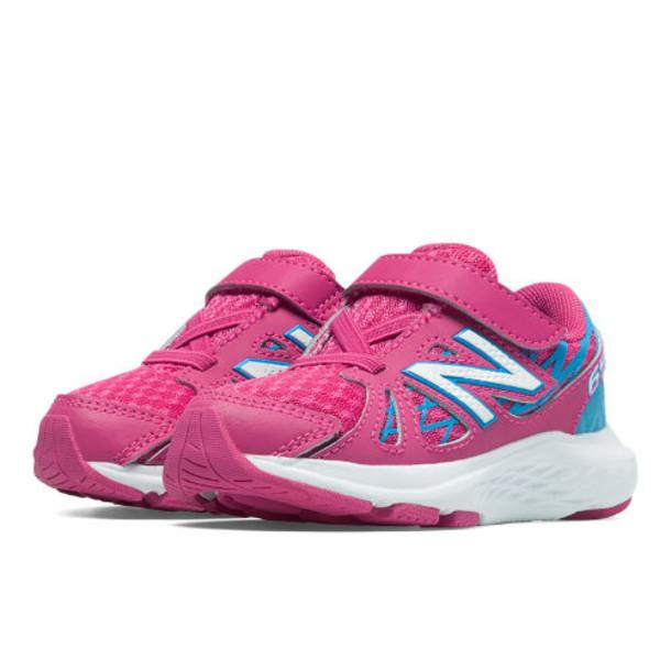 New Balance Hook and Loop 690v4 Kids' Infant Running Shoes - Exuberant Pink, Blue Atoll (KV690PKI)
