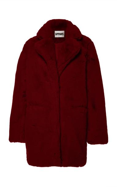Apparis Sophie Collared Faux Fur Coat Size: XS