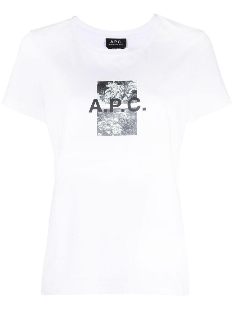 A.P.C. A.P.C. logo-print short-sleeve T-shirt - White