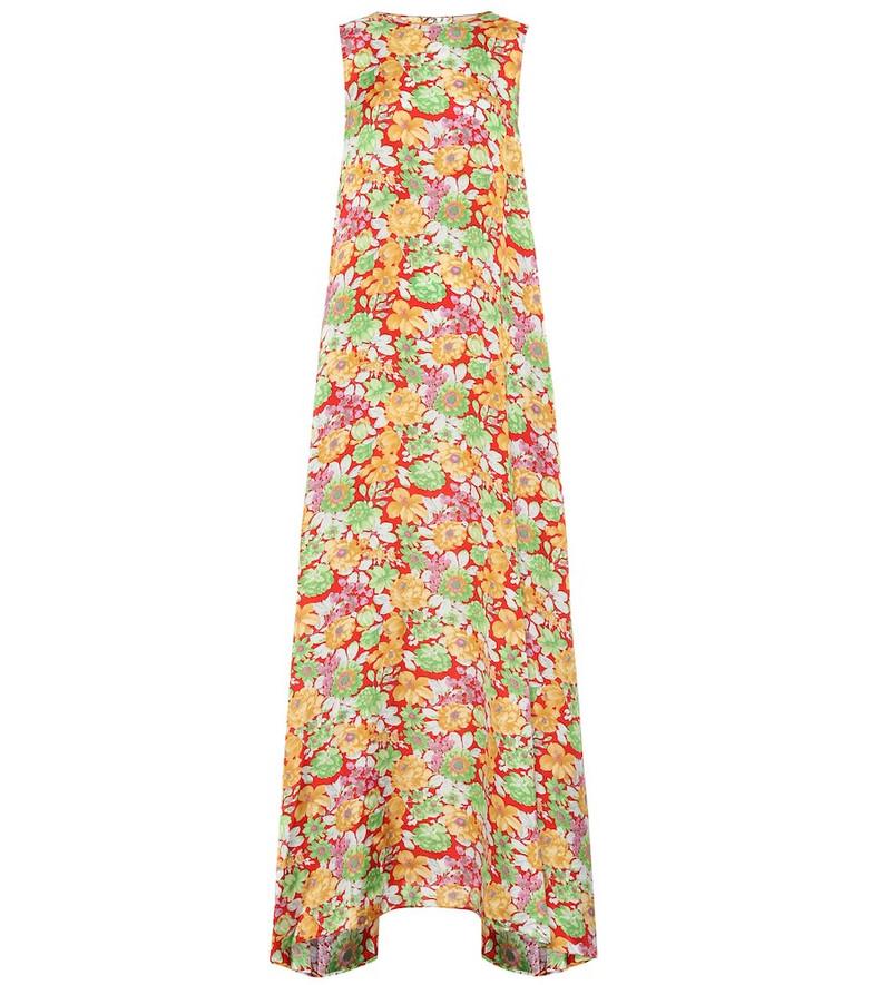 Plan C Sleeveless floral maxi dress