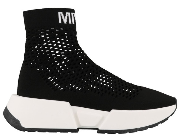 Mm6 Maison Margiela Logo Sneakers in black