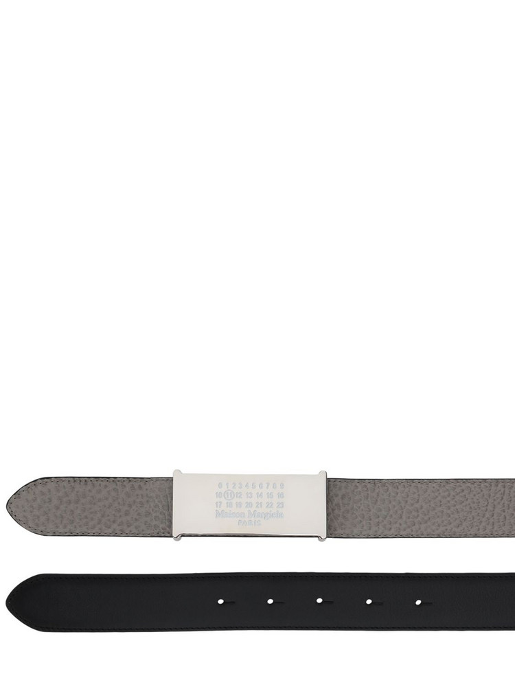 MAISON MARGIELA Reversible Leather Belt in black