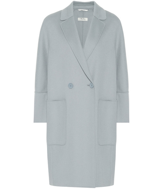 S Max Mara Audrey virgin wool coat in blue