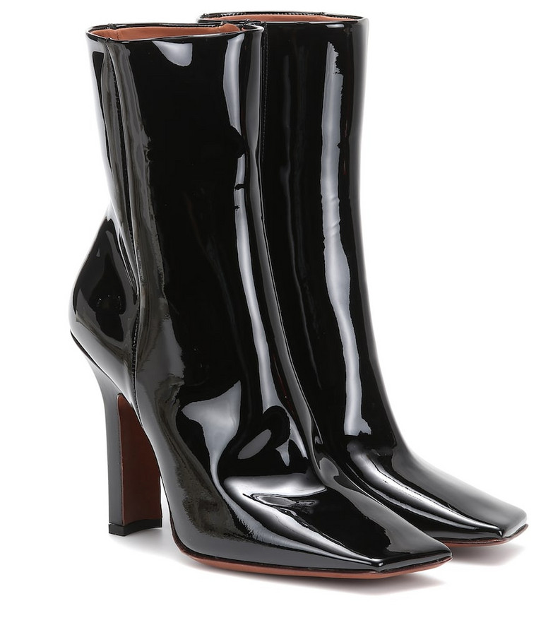 Vetements Patent leather ankle boots in black