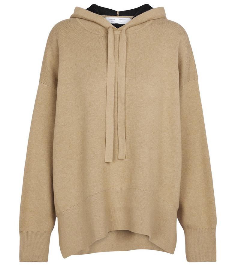 Proenza Schouler Cotton-blend hoodie in beige