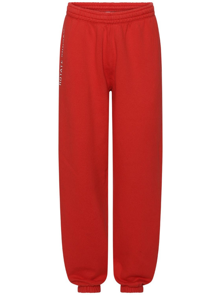ROTATE Sunday Capsule Jersey Mimi Sweatpants in red