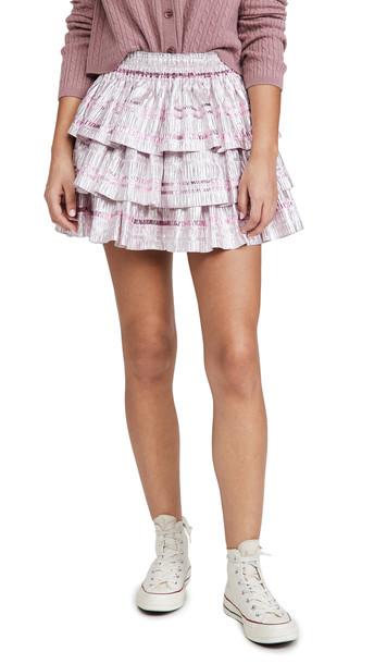 LOVESHACKFANCY Brynlee Skirt in pink