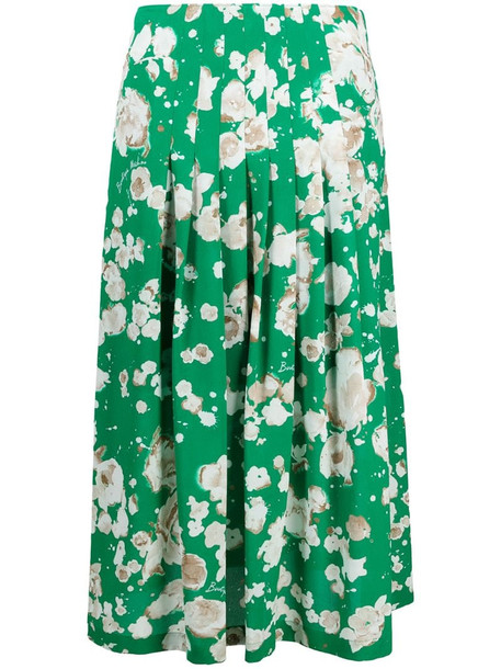 Moschino floral-print mid-length skirt in green