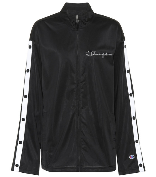 Champion Popper track jacket in black