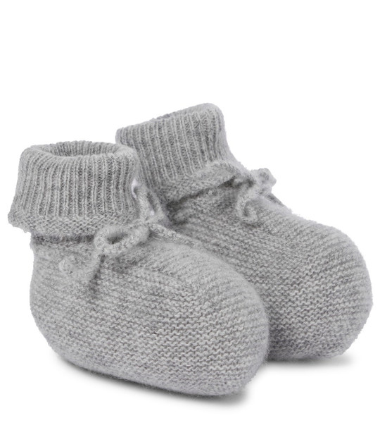 Bonpoint Baby cashmere booties in grey