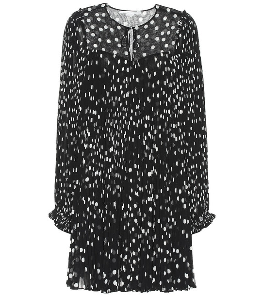 Stella McCartney Polka-dot plisse dress in black