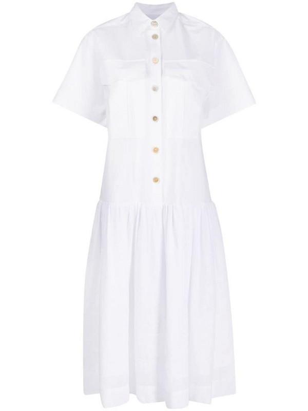 Erika Cavallini short sleeved shirt dress in white