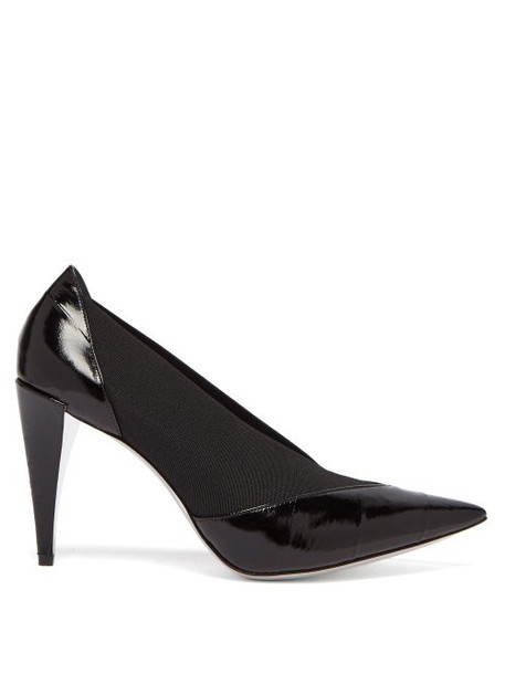 Givenchy - Show Elasticated Insert Eel Skin Pumps - Womens - Black