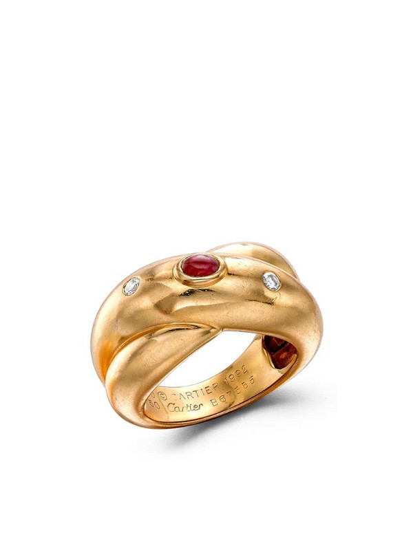 Cartier 1961 18kt yellow gold Gypsy three-stone ring