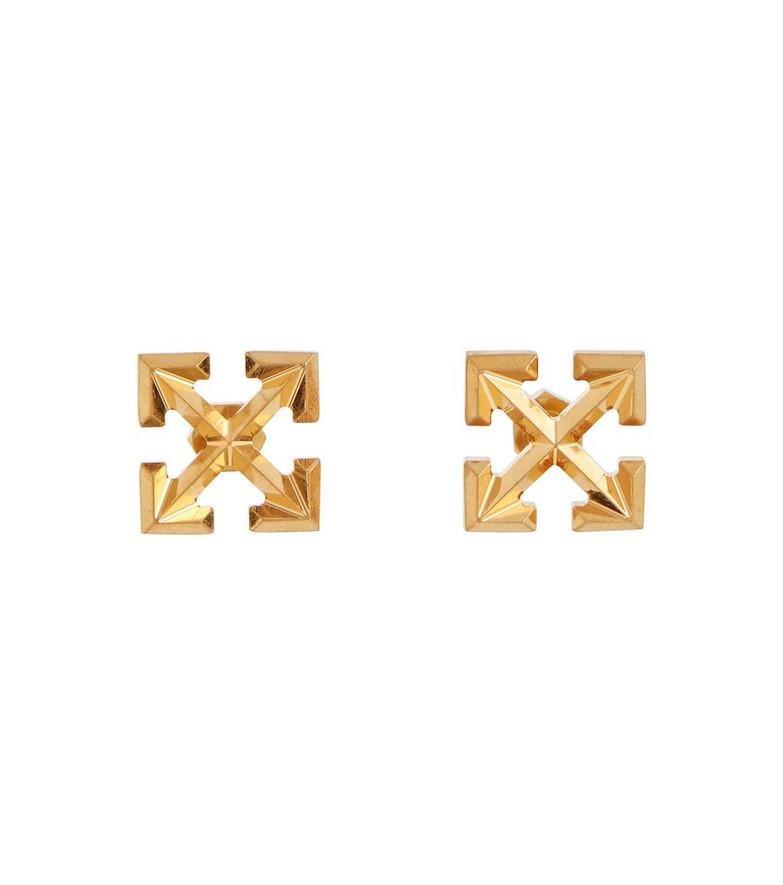 Off-White Arrow stud earrings in gold