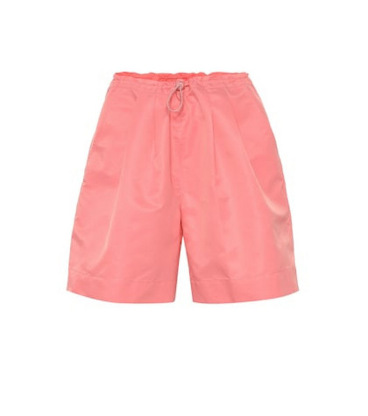 Staud Coconut high-rise shorts in pink