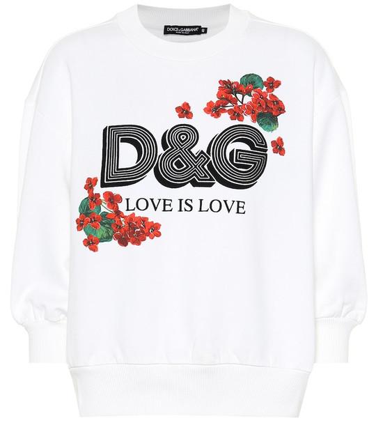 Dolce & Gabbana Logo cotton sweatshirt in white