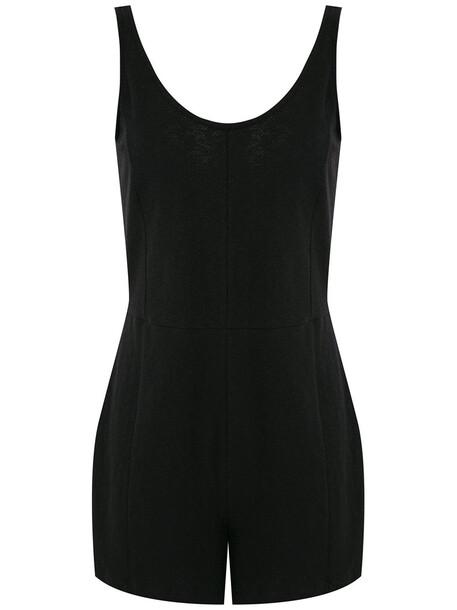 Osklen panels sleeveless playsuit - Black