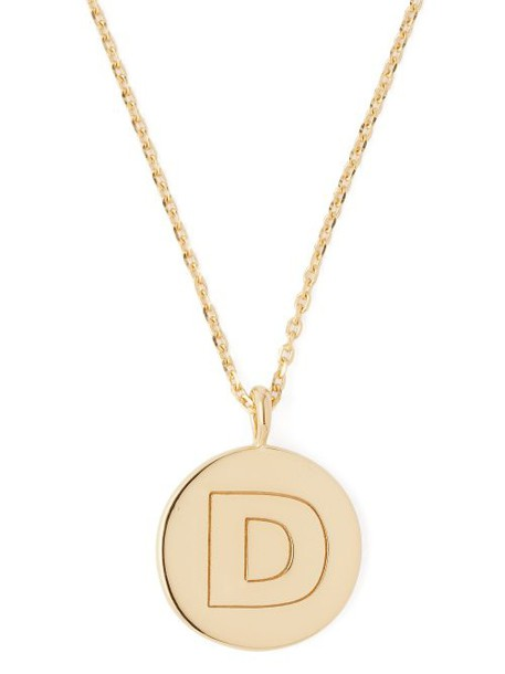 Theodora Warre - D Charm Gold Plated Necklace - Womens - Gold