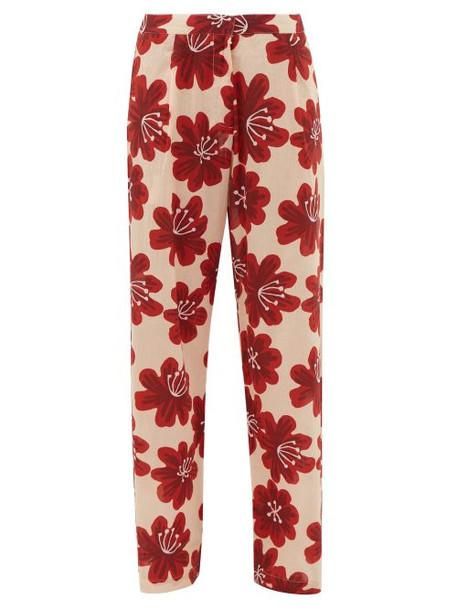 Dodo Bar Or - Hattie Floral Print Cotton Wide Leg Trousers - Womens - Cream Print