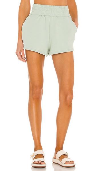 Camila Coelho Kenzie Shorts in Sage in green