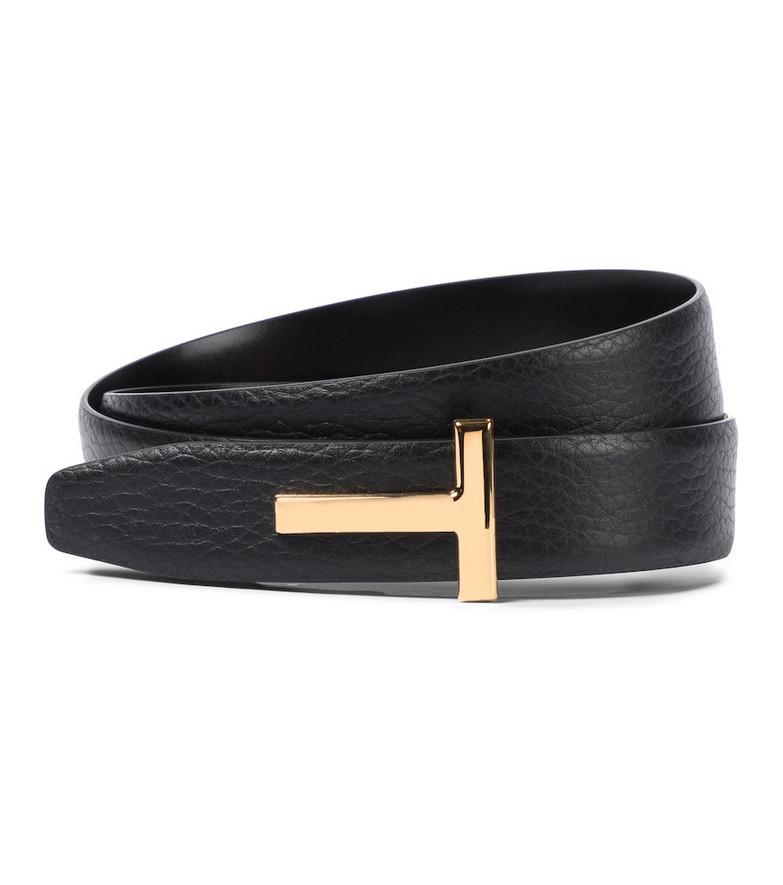 Tom Ford Monogram leather belt in black