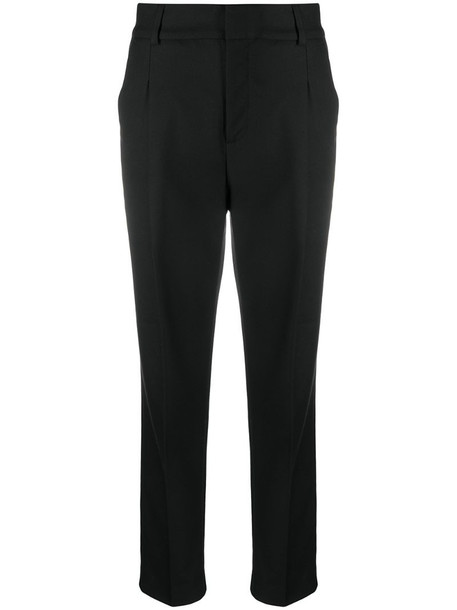 ANINE BING mid-rise tailored trousers in black
