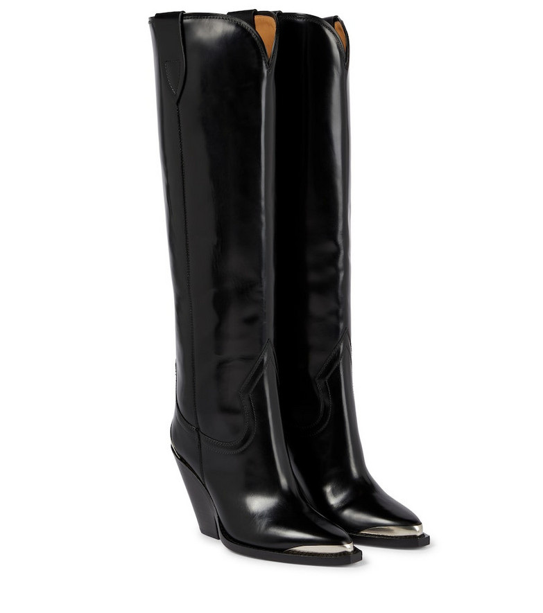 Isabel Marant Lomero leather knee-high boots in black