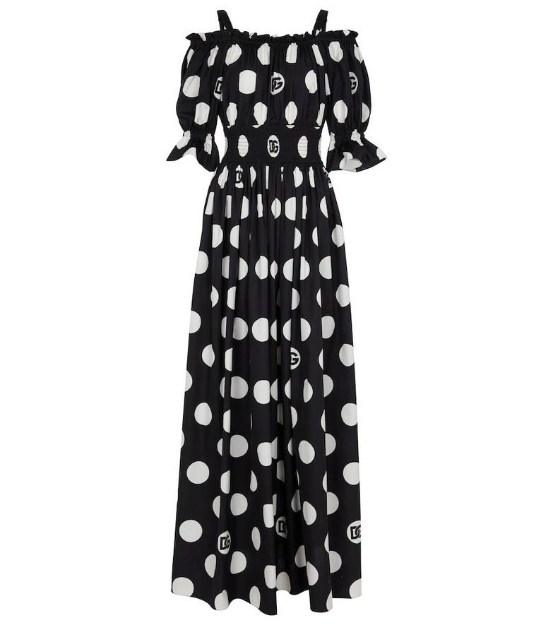 Dolce & Gabbana Exclusive to Mytheresa – Polka-dot cotton maxi dress in white