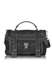 satchel,bag,satchel bag,suede,black