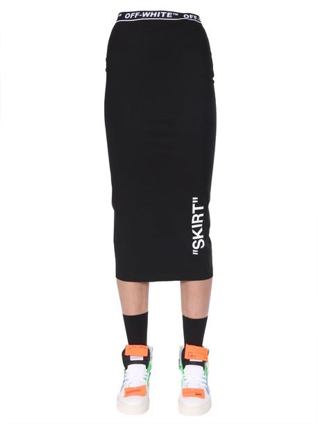 Off-White Pencil Skirt in nero