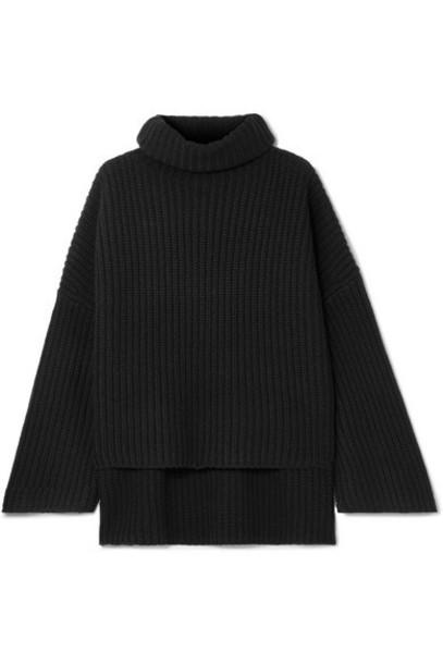 Joseph - Ribbed Wool Turtleneck Sweater - Black