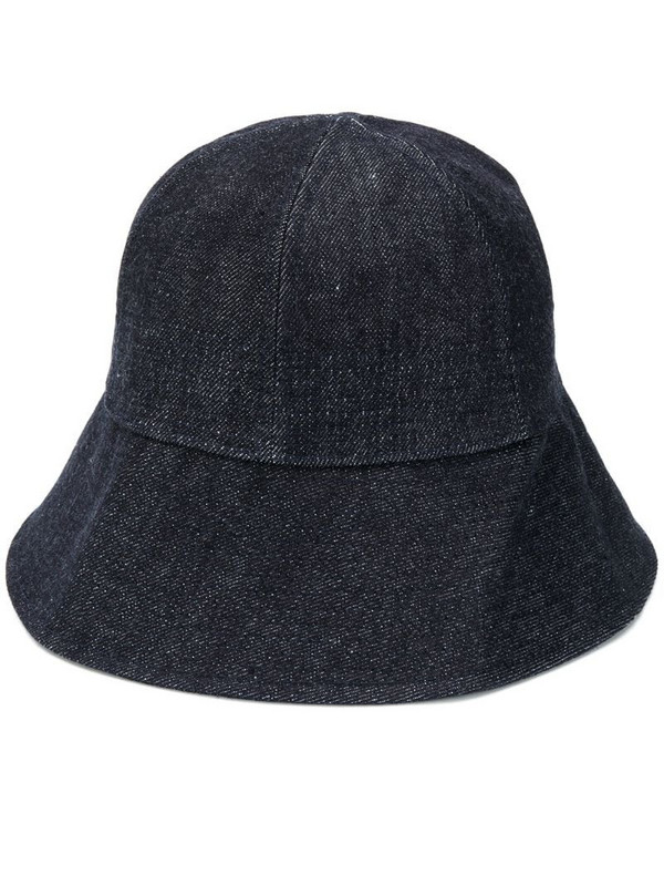 Jil Sander denim bucket hat in blue