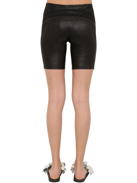 PACO RABANNE Lurex Jersey Cycling Shorts in black