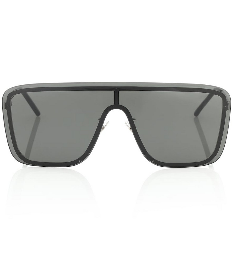Saint Laurent SL 364 Mask flat-brow sunglasses in black