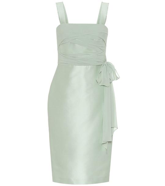 Max Mara Bardies cotton and silk sheath dress in green