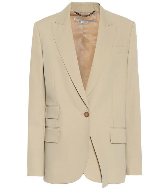 Stella McCartney Wool blazer in beige