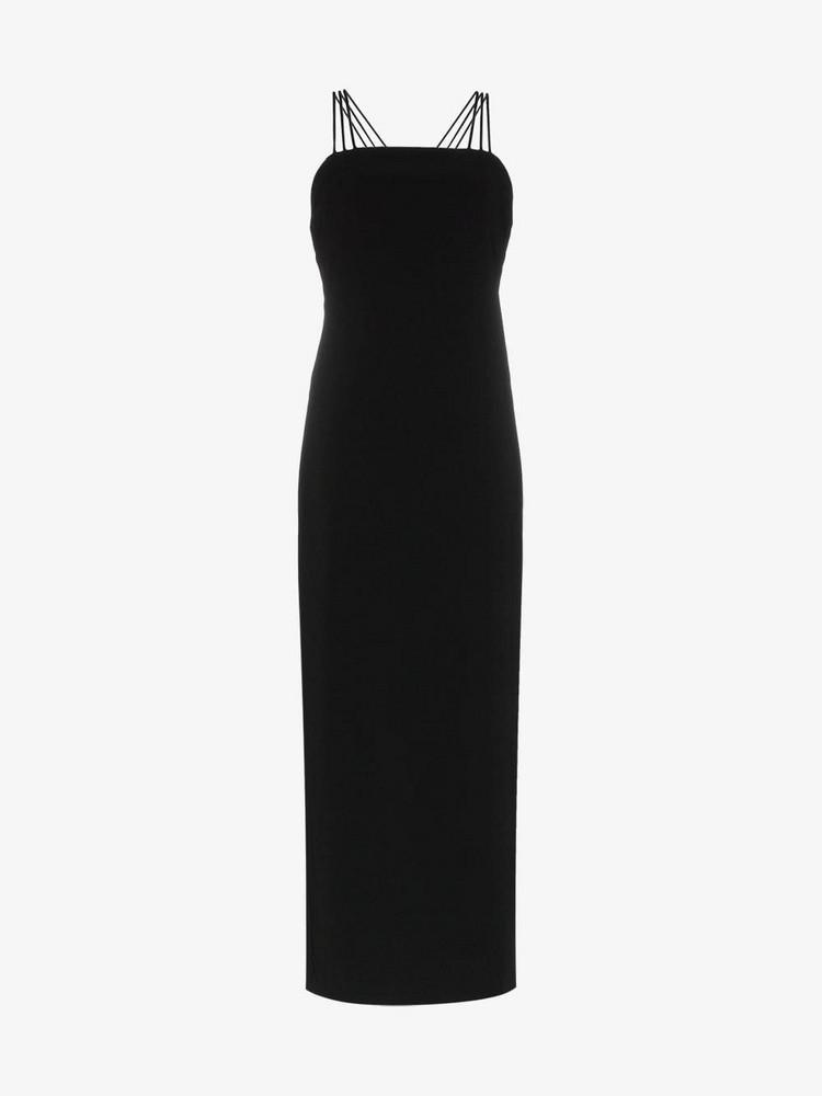 Deitas elena crossover back strap dress in black