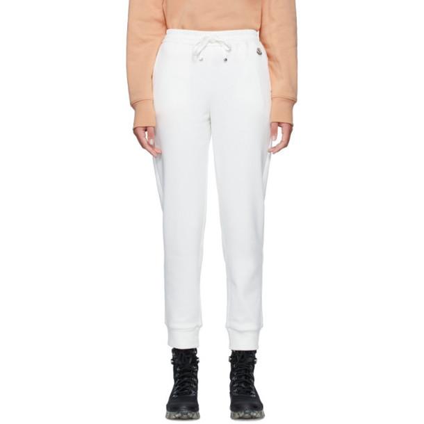 Moncler White Logo Lounge Pants