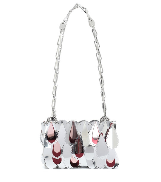 Paco Rabanne Sparkle 1969 Nano shoulder bag in silver