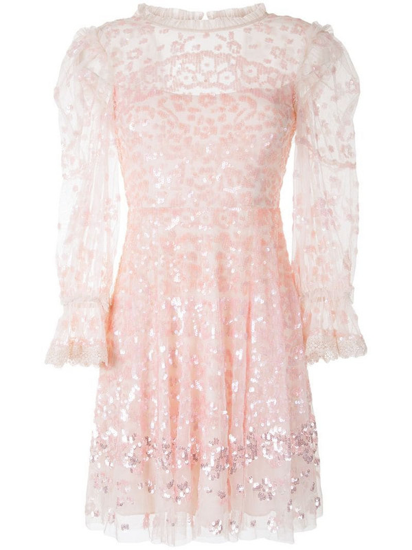 Needle & Thread sequin-embellished mini dress in pink