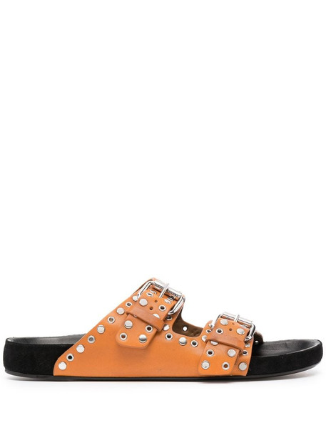Isabel Marant Lennyo studded sandals in brown