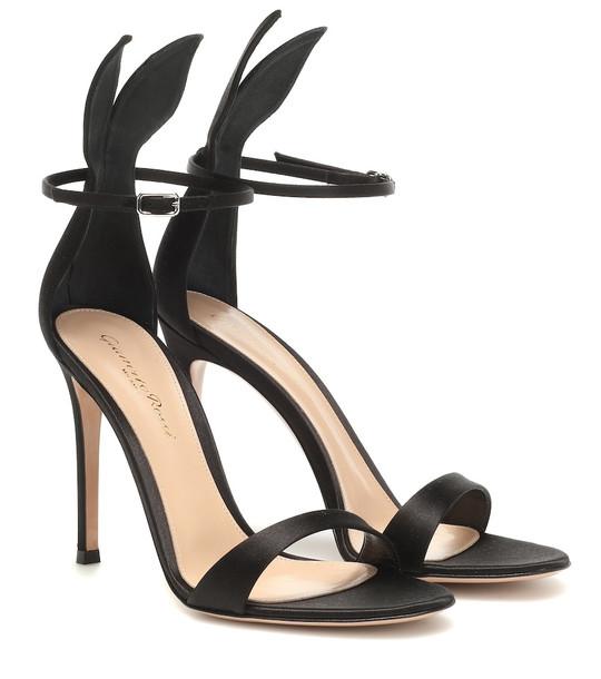 Gianvito Rossi Satin sandals in black