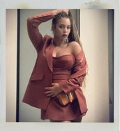dress,strapless,strapless dress,mini dress,beyonce,celebrity,blazer,fall outfits,instagram