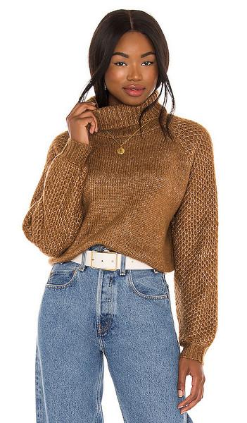 BB Dakota That Wing You Do Sweater in Tan in camel