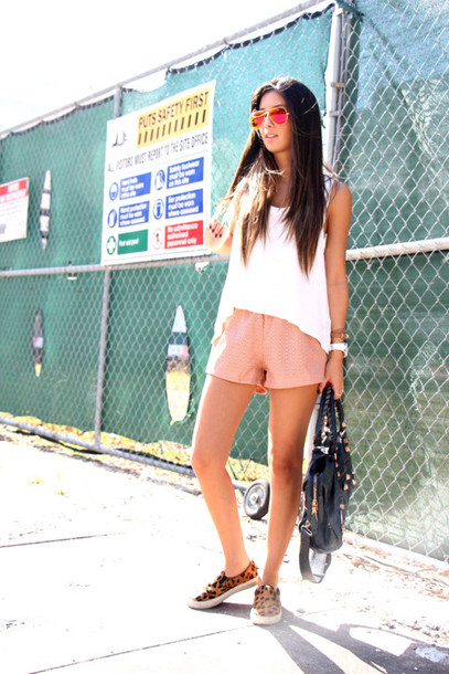 the material girl top shorts shoes bag sunglasses tank top