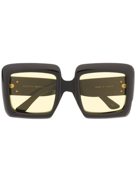 Gucci Eyewear oversized square-frame sunglasses in black