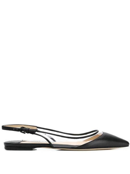 Jimmy Choo Erin flat ballerina shoes in black
